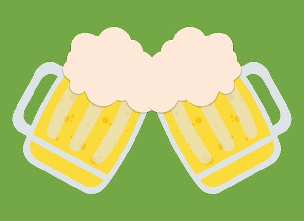 Zwei biere, die ikonenbild rösten