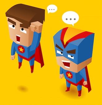 Zwei blaue superhelden
