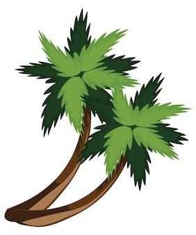 Zwei comic-palmen