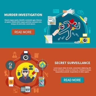 Zwei detective banner set