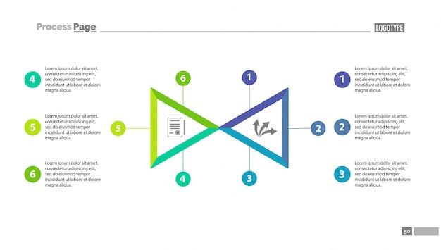 Zwei dreieckssegment optionskarte