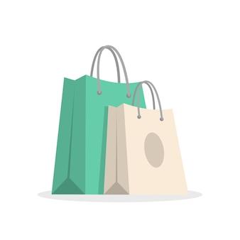 Zwei einkaufstaschen illustration
