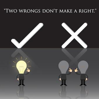Zwei fehler machen kein recht