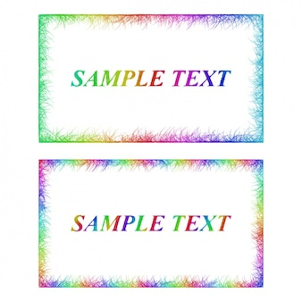 Zwei frames mit regenbogenfarben