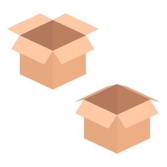 Zwei geöffnete kisten