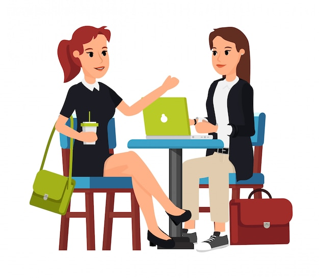 Zwei geschäftsfrauen im café