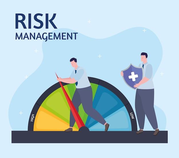 Zwei geschäftsleute risikomanagement