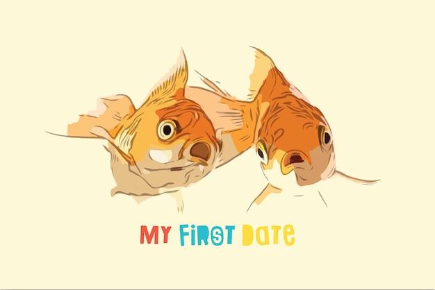 Zwei goldfische überraschten im ersten spiel.