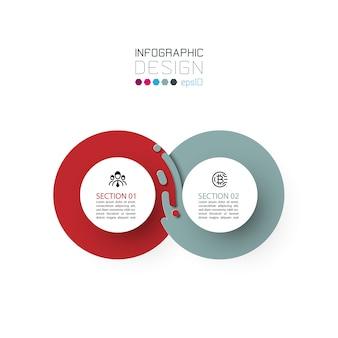 Zwei harmonische kreis infografiken.