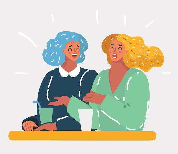 Zwei hübsche freundinnen lachen