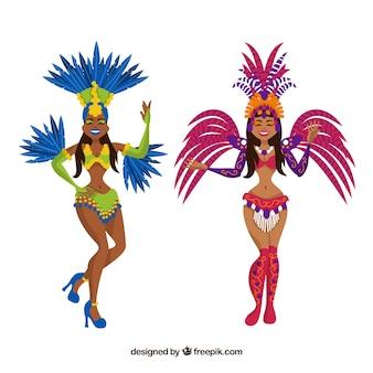 Zwei karnevalstänzer