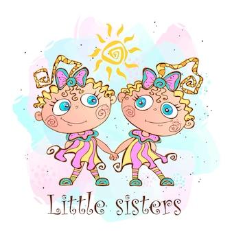 Zwei kleine schwestern.
