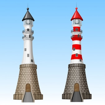 Zwei leuchttürme design