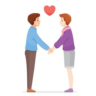 Zwei männer hand in hand, liebhaber, valentinstag