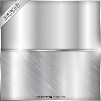 Zwei metallische banner