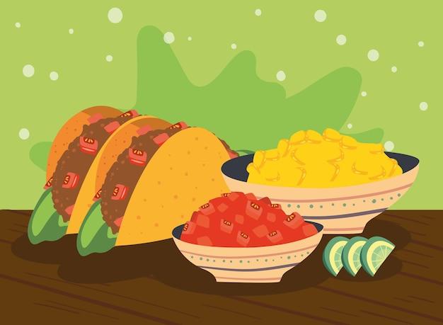 Zwei mexikanische tacos