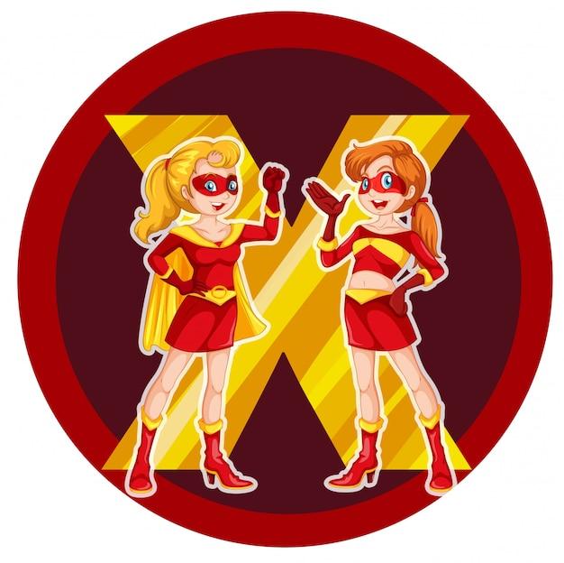 Zwei mutige weibliche superhelden