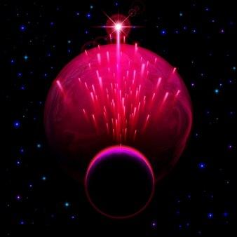 Zwei planeten und sternendusche