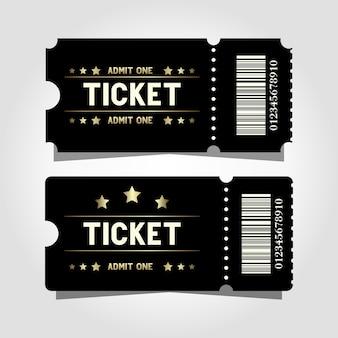 Zwei premium-kinovorlagendesign