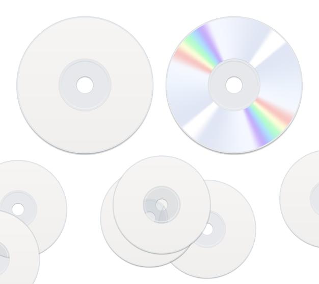 Zwei seiten cd-discs isoliert