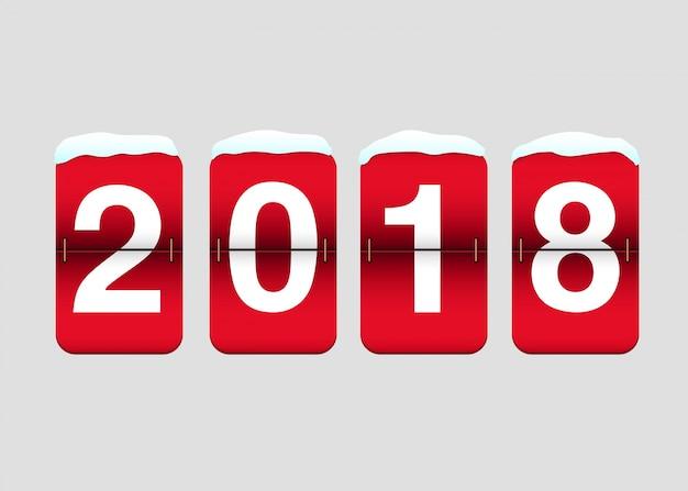 Zwei tausend achtzehn auf flip-kalender