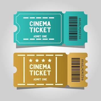 Zwei ticket-kino-vorlagendesign