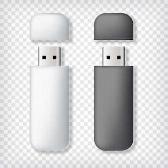 Zwei usb-speicherstick-modelle