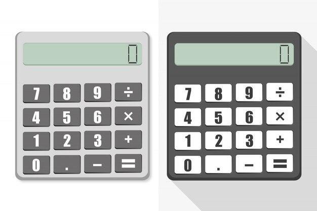 Zwei verschiedene arten von taschenrechner.