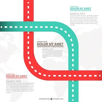 Zwei wege infografik