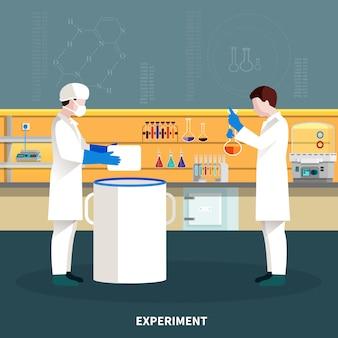Zwei wissenschaftler-leute-zusammensetzung