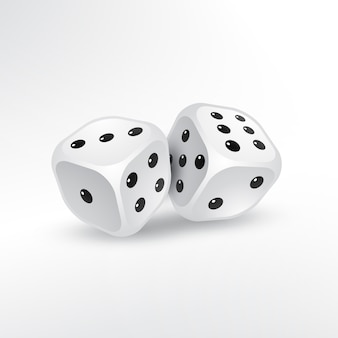 Zwei Würfel auf weißem Hintergrund Vektor