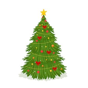Zweidimensionaler weihnachtsbaum