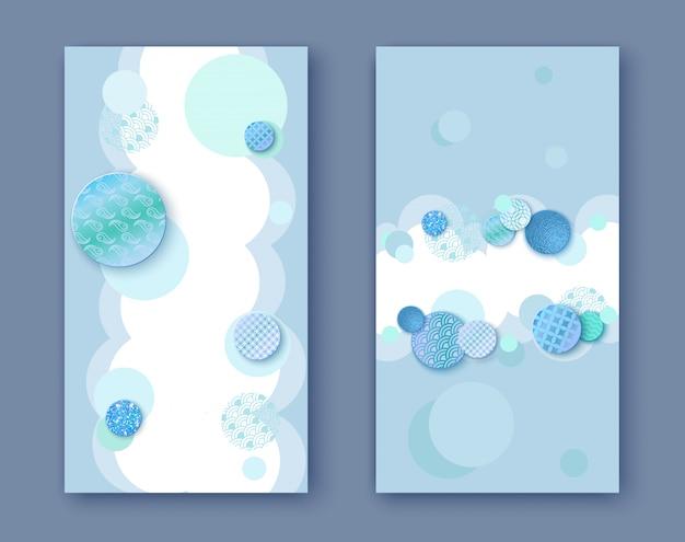 Zweifacher blauer hintergrund