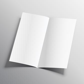 Zweifaches papier-mockup-vektor-design-vorlage