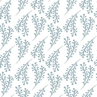 Zweig nahtlose muster im skandinavischen stil