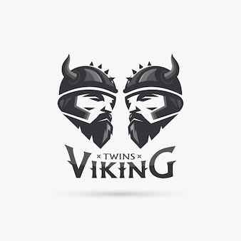 Zwillinge wikinger kopf