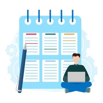 Zwischenablage der checkliste. erfolgreiche erledigung kaufmännischer aufgaben. fragebogen, umfrage, aufgabenliste. konzept zu tun liste, erledigte arbeit, präsentation, banner, social media flache vektorillustration