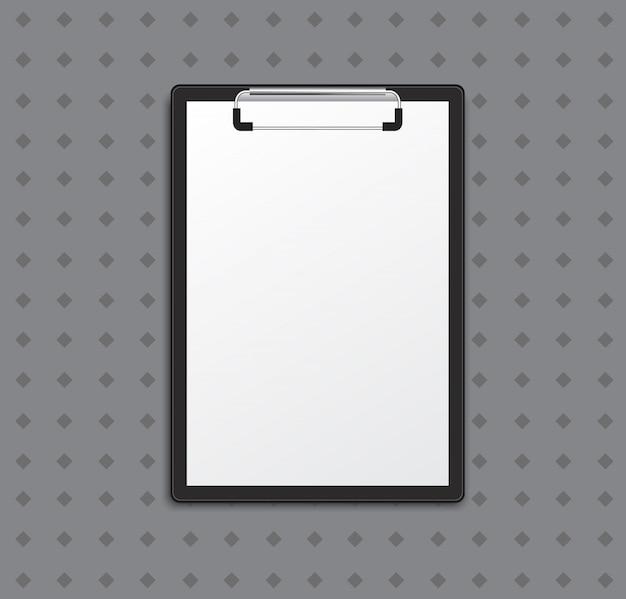 Zwischenablage mit weißer liste