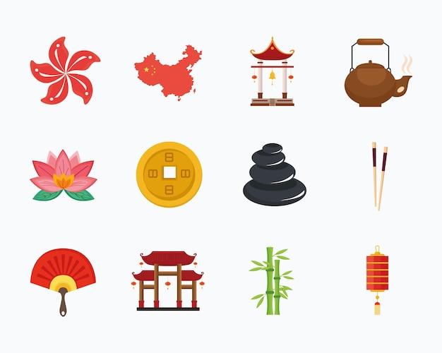 Zwölf chinesische kulturikonen