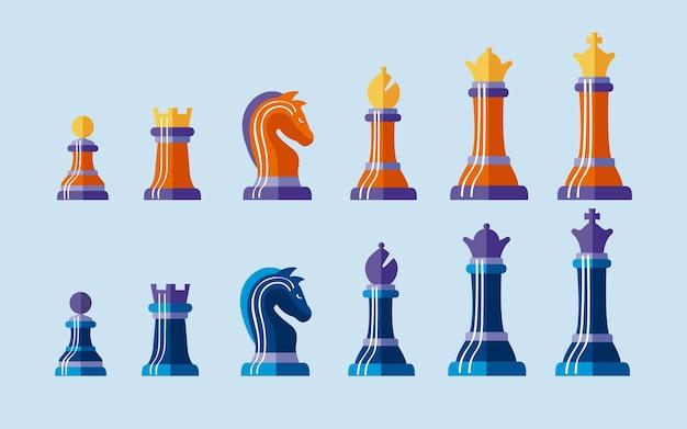 Zwölf schachfiguren