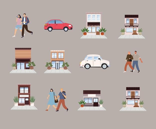 Zwölf urbane ikonen der stadt