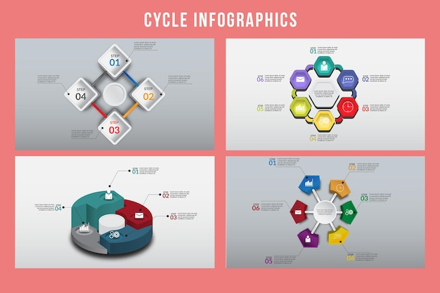 Zyklus infografik design