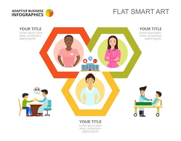 Zyklus infografiken folie vorlage