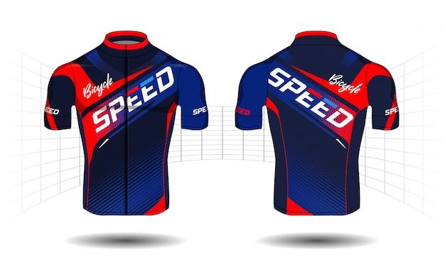 Zyklus jersey sportabnutzungs-schutzausrüstungsvektor