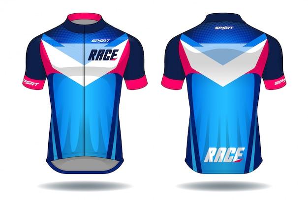 Zyklus jersey sportabnutzungsschutzausrüstungs-vektorillustration.