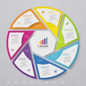 Zyklusdiagramm-infografik zur datenpräsentation