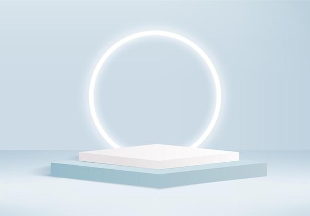 Zylinder abstrakte minimale szene mit geometrischer plattform