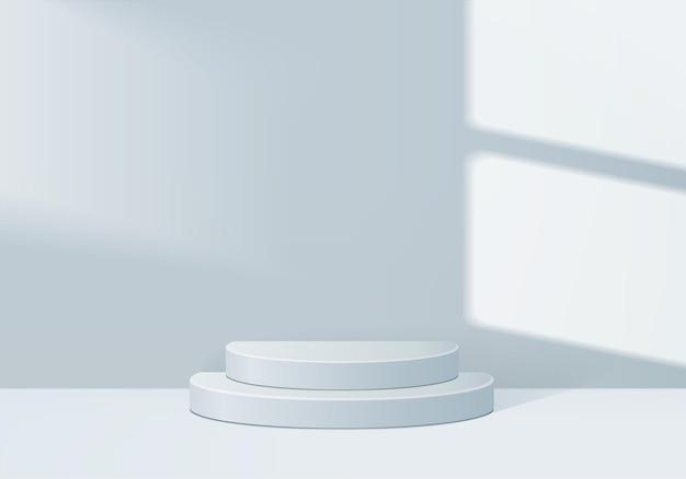 Zylinder abstrakte minimale szene mit geometrischer plattform.
