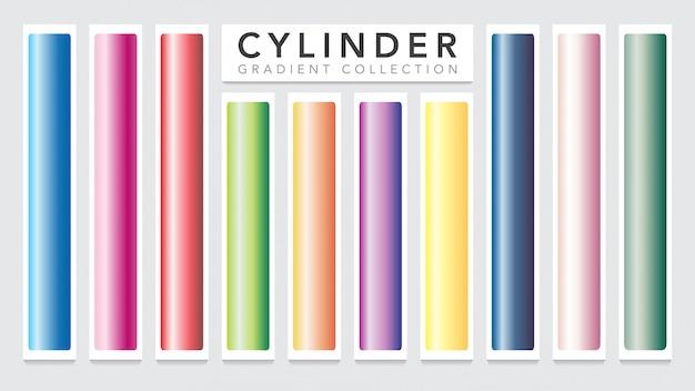 Zylinder farbverlauf metall sammlungsvorlage