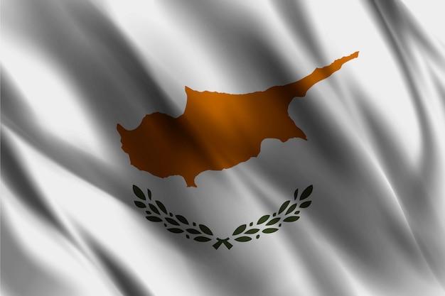 Zypern flagge, die abstrakten hintergrund winkt